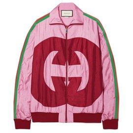 Gucci-nouvelle veste de survêtement à logo GG-Rose