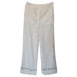 Ganni-Un pantalon, leggings-Blanc