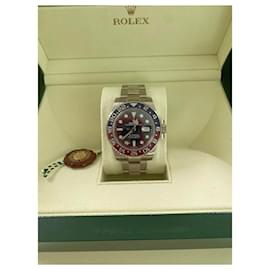 Rolex-Rolex GMT-Master II Pepsi Blue White Gold Perfect-Silvery,Red,Blue