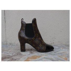 Louis Vuitton-Revival ankle boots 7.5 cm-Marron,Noir