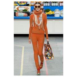 Chanel-rare 3 piece ensemble-Orange