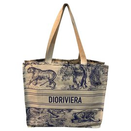 Dior-Dior Cabas livre Dior Riviera-Bleu,Beige
