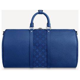 Louis Vuitton-LV Keepall 50 Taigarama-Blue
