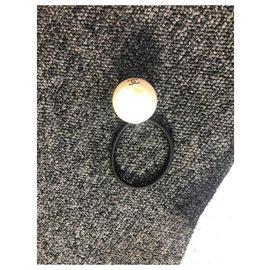 Chanel-Elastic pearl chanel-Black,Beige,Cream,Cream