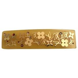 Louis Vuitton-Accessoires pour cheveux-Jaune,Bijouterie dorée