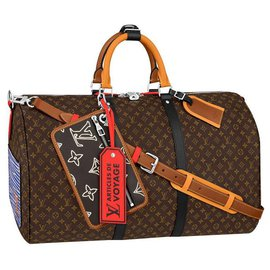 Louis Vuitton-LV Keepall patchwork-Brown