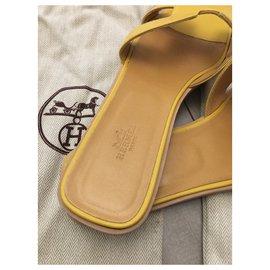 Hermès-Hermes Mules-Yellow