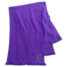 Chanel-Scarves-Purple