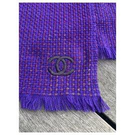 Chanel-Echarpes-Violet