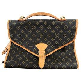 Louis Vuitton-Louis Vuitton Brown Monogram Beverly GM Briefcase-Brown