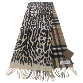 Burberry-BURBERRY lined-face cashmere scarf-Multiple colors
