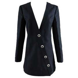 Chanel-veste boutons en porcelaine-Noir