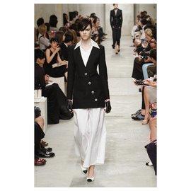 Chanel-porcelain buttons jacket-Black