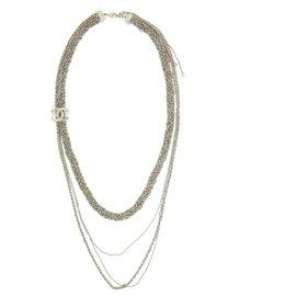 Chanel-CC SILVER CHAIN BRAID-Silvery