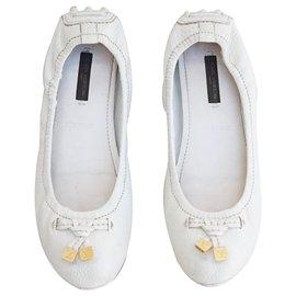 Louis Vuitton-Ballerines-Blanc