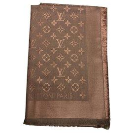 Louis Vuitton-Châle monogramme Louis Vuitton-Caramel