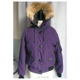 Canada Goose-CANADA GOOZE Ultra warm purple sports jacket TM-Purple