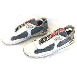 Prada-Sneakers-Silvery,White
