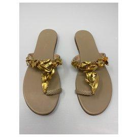 Dior-Sandale Dior jardin Neuf jamais porté Sans boite-Beige,Doré,Bijouterie dorée