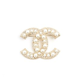 Chanel-GOLDEN CC DIAMONDS AND PEARLS-Golden