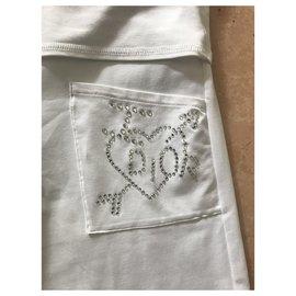 Dior-Un pantalon, leggings-Blanc