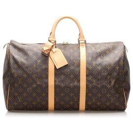 Louis Vuitton-Louis Vuitton Brown Monogram Keepall 50-Brown