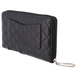 Chanel-Chanel Black Cambon Ligne Lambskin Long Wallet-Black