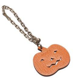 Hermès-Hermes Orange Pumpkin Bag Charm-Orange
