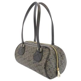 Céline-Celine Black Mini Carriage PVC Boston Bag-Black,Other,Grey