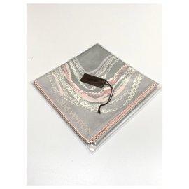 Louis Vuitton-Foulard en soie Louis Vuitton-Multicolore,Gris