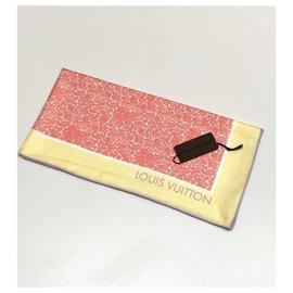 Louis Vuitton-Foulard en soie Louis Vuitton-Rose,Multicolore,Jaune