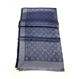 Louis Vuitton-Louis Vuitton monogramme Shine Shawl-Bleu