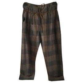Brunello Cucinelli-Un pantalon, leggings-Multicolore