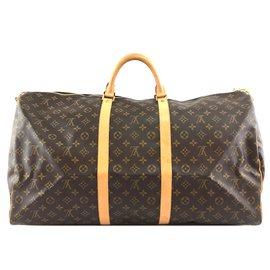 Louis Vuitton-Louis Vuitton Keepall 60 Bandouliere Monogram Canvas-Brown