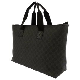 Gucci-Gucci Black GG Supreme Business Bag-Black