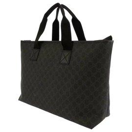 Gucci-Gucci Noir GG Supreme Business Bag-Noir