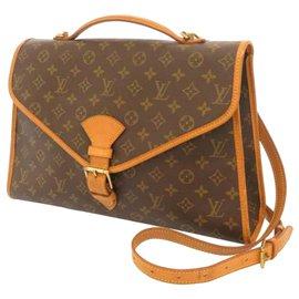 Louis Vuitton-Louis Vuitton Brown Monogram Beverly Briefcase GM-Brown