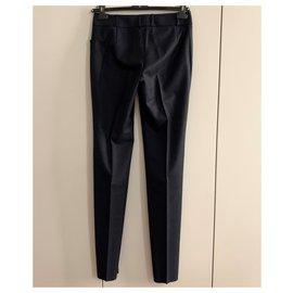 Yves Saint Laurent-Wool sartorial trousers-Dark grey