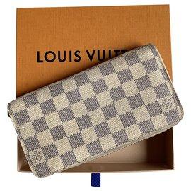 Louis Vuitton-Louis Vuitton Zippy Wallet-White,Beige,Eggshell