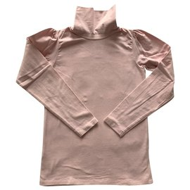 Jacadi-Pink cotton stretch top-Pink