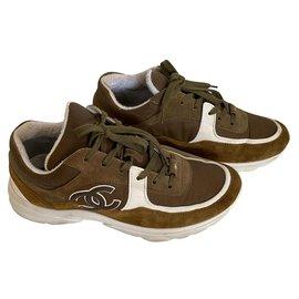 Chanel-Sneakers-Brown,Khaki