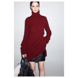 Céline-Knitwear-Dark red