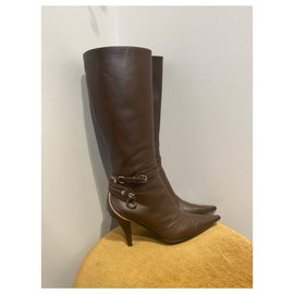 Christian Dior-Boots-Brown