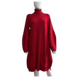Pier Antonio Gaspari-Robe rouge en laine vierge-Rouge