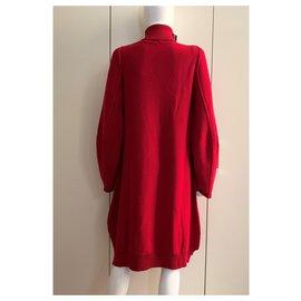 Pier Antonio Gaspari-Red virgin wool dress-Red