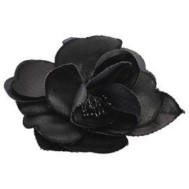 Chanel-Chanel Black Camellia Brooch-Black