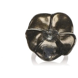 Chanel-Chanel Black Camellia Ring-Black