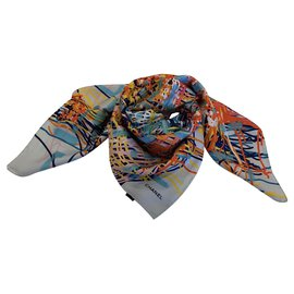Chanel-foulard CHANEL SOIE-Multicolore