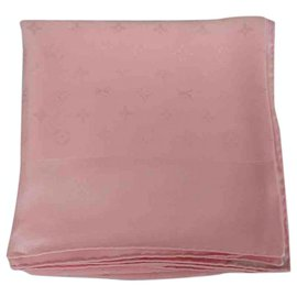 Louis Vuitton-Foulards de soie-Rose