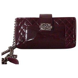 Chanel-CHANEL Wallet On Chain Boy-Dark red